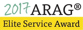 In recognition of outstanding service provided to an ARAG plan member